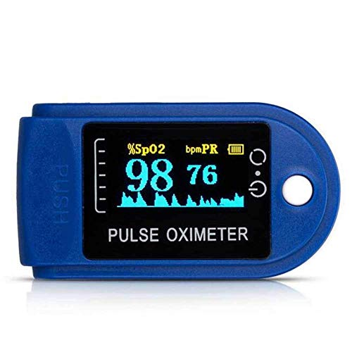 WANGXN Fingerpulsoximeter Blauer Blutsauerstoffsättigungsmonitor mit LCD-Anzeige,Blau