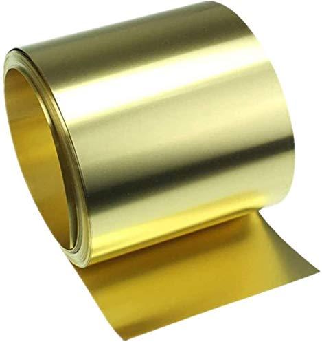 Xiayanmei Brass Noten Rolle Messingband High Purity Goldfilm Messing Kupferfolie Platte, Dicke 0,3 mm,40x1000mm