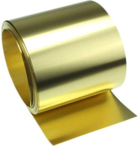 Xiayanmei Brass Noten Rolle Messingband High Purity Goldfilm Messing Kupferfolie Platte, Dicke 0,3 mm,20x1000mm