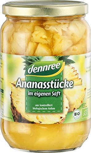 dennree Bio Ananas-Stücke im, eigenen Saft (6 x 685 gr)