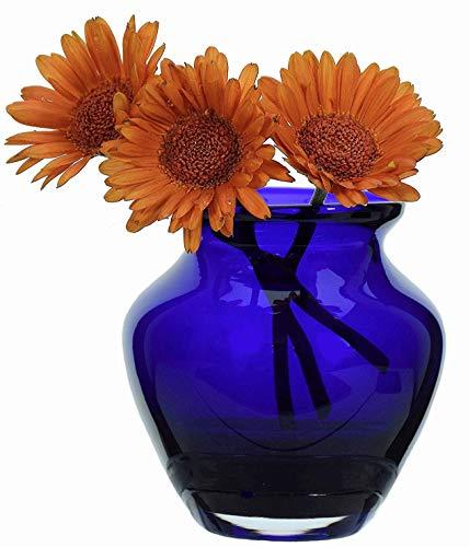 Verre Clair Medium Posy Vase 12 cm de haut | Bleu ciel