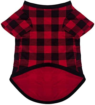 Hozz Classic Plaid Cotton Dog T Shirt Hypoallergenic Breathable and Comfortable for Small Medium product image
