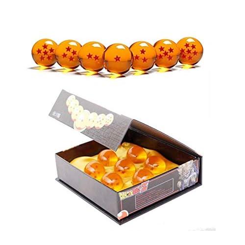 Dragon Ball, sfere del drago trasparenti da collezione, diametro 43,76 mm, arancione, 7.6-4