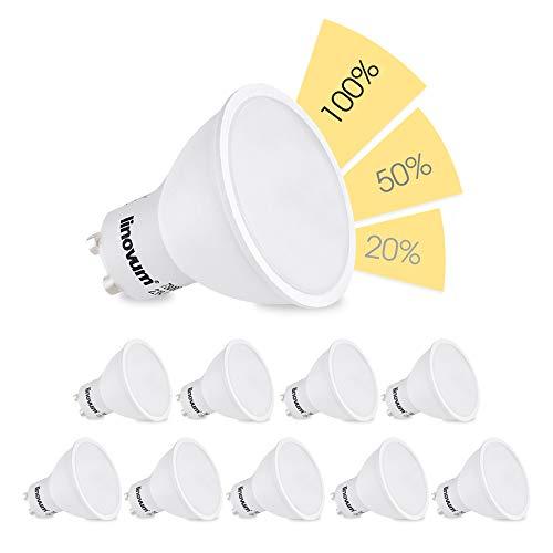 Linovum fourSTEP LED-Lampe Dim 2700 K & 4000 K Packung mit 10 Stück - Warmweiß.