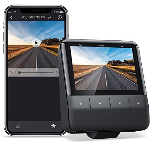 APEMAN Wi-Fi Dashcam mit App, 1080P Full HD-Autokamera Starvis Sensor, IPS-Display, Nachtsicht, Parkmonitor, Bewegungserkennung, Unterstützung 128G Max und GPS
