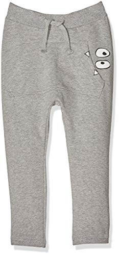 Name It Nmmoldrik SWE Pant Baggy Slim Box Bru, Pantalon Bébé garçon, Gris (Grey Melange), 98