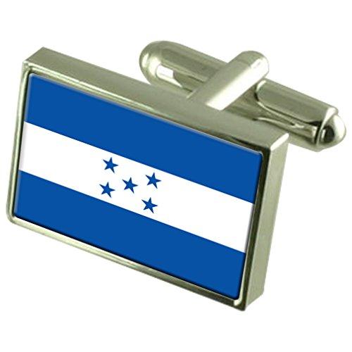 Honduras Fahne Sterling Silber Manschettenknöpfe