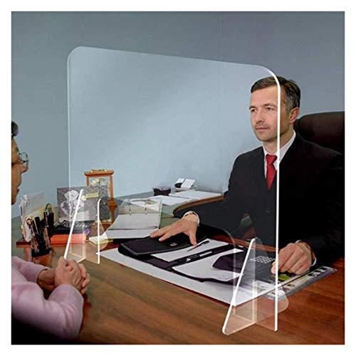 XIAN-jing Schreibtisch Plexiglaswand, Plexiglas Sneeze Stehender Schutz Zähler Schild Divider Nail Bar Salon Partition Hustenschutz Acrylglas (Size : 40 * 40cm)