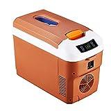 12L, 12V / 24V / 220V Coche Portátil, Mini Refrigerador Del Coche, Hogar Del Coche Doble Propósito 48W-68W,Marrón