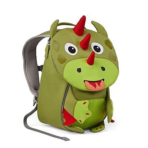 Affenzahn Kleiner Freund - Kindergartenrucksack für 1-3 Jährige Kinder im Kindergarten und Kinderrucksack für die Kita - Drache - Grün