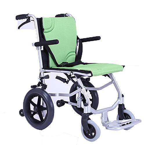 YYXXL Manual Plegable sillas Ruedas portátil Scooter Freno de Doble Llantas sólidas Scooter de Uso Interior y Exterior, el Tratamiento ortopédico, después de la cirugía