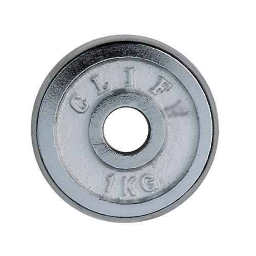 Dischi pesi 2pcs piastre in ghisa Bilanciere Peso Galvanotecnica casa Esercizio muscolo del braccio Piastra manubri di peso for uomini e donne (Color : White, Dimensione : 2kg(1kg*2))