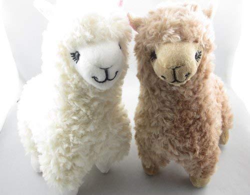 Morwealth süßes Alpaka-Plüsch-Spielzeug, 2 Stück, Kamelcreme Stofftier für Kinder