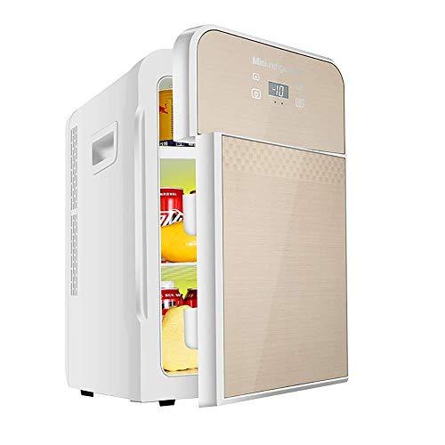 Mini refrigerador de 22L, refrigerador para automóvil, termostato de pantalla digital de doble núcleo, ultra silencioso, bajo ruido, para automóvil, hogar, doble uso, doble puerta, refrigeración, caj