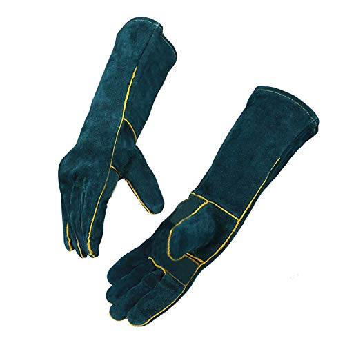 Sporting Style 16IN Animal Handling Gloves Bite Proof Kevlar Reinforced Leather Padding Dog,Cat Scratch,Bird Handling Falcon Gloves Grabbing,Reptile Squirrel Snake Bite