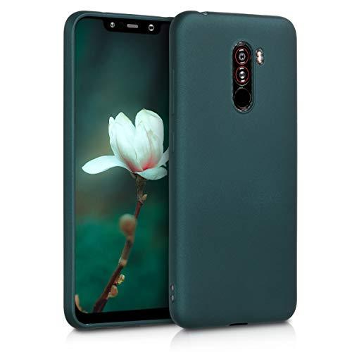 kwmobile Xiaomi Pocophone F1 Hülle - Handyhülle für Xiaomi Pocophone F1 - Handy Case in Metallic Petrol