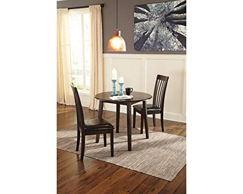 Signature Design by Ashley Hammis Dining Room Drop Leaf Table, Dark Brown