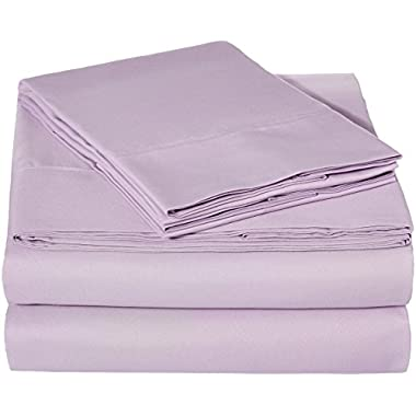 AmazonBasics Microfiber Sheet Set - Queen, Frosted Lavender