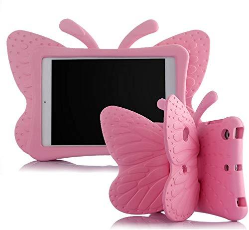 Ipad Mini Case,ER CHEN Kids Light Weight Cute Butterfly Design Shock Proof EVA Foam Series Case for Ipad Mini 1/2/3/4 (Pink)