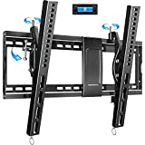 Tilting TV Wall Mount Bracket Design for Most 32-82 Inch LED Plasma Flat Curved Screen TVs , Low Profile JUSTSTONE TV Mount with VESA 600x400mm Holds up to 165 Lbs, Fits 16'-24' Studs,Can Be Leveled