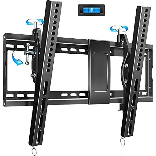 """Tilting TV Wall Mount Bracket Design for Most 32-86 Inch LED Plasma Flat Curved Screen TVs , Low Profile JUSTSTONE TV Mount with VESA 600x400mm Holds up to 165 Lbs, Fits 16""""-24"""" Studs,Can Be Leveled"""
