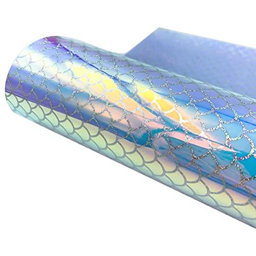 Rollo de vinilo autoadhesivo Hahepo con ondas de escamas de pescado para decoración de fiestas