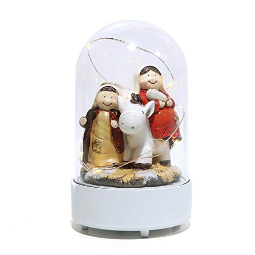 Nativity Sets for Christmas Indoor Manger Scene Holy Family Figurine Decoration and Display on Mantel or Window Sill
