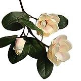 Artificielle Faux Fleurs Feuille Magnolia Artificielle avec tige et Feuilles Vertes Magnolia Floral Bouquet De Mariage Réel Fleur Bouquet Fleurs Artificielles Maison Intérieur Fée Jardin Décorations