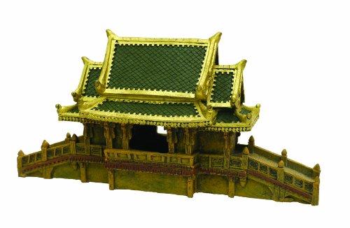 Rosewood - Adorno para Acuario con Puente Cubierto japonés, tamaño Grande