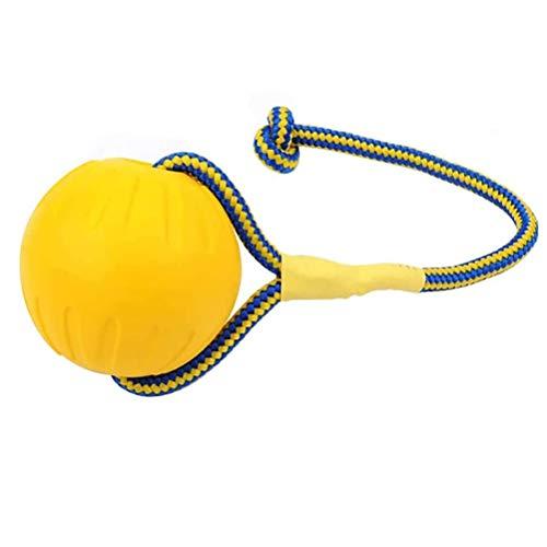 BST&BAO Wurfball Hundeball, Robuster natürlicher Floating Gummiball mit Seil, Hundespielzeug Ball Hundetraining zum Holen, Fangen, Werfen, Ziehen