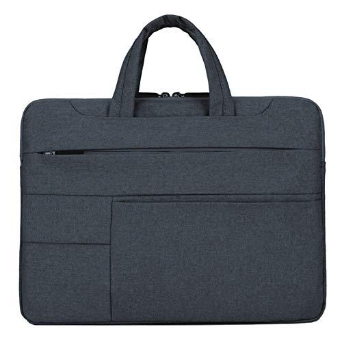 Fauge Laptop Bag 15.6 Pulgadas Funda para PortáTil a Prueba de Agua para Air Pro Computer Briefcase Bag Negro