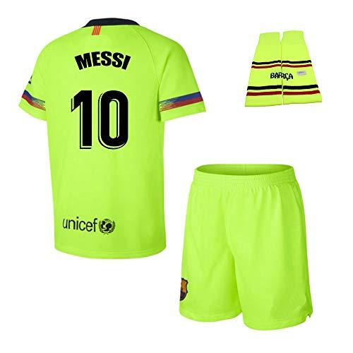 Personalizador Conjunto Complet Infantil FC Barcelona Réplica Oficial Licenciado de la Segunda Equipación Temporada 2018-19 - Dorsal Messi 10 (14 Años)