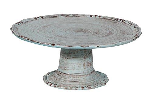 Biscottini Manele Porte Service- Centre de Table en céramique de Bassano L32 x PR32 x H15 cm Fabriqué en Italie