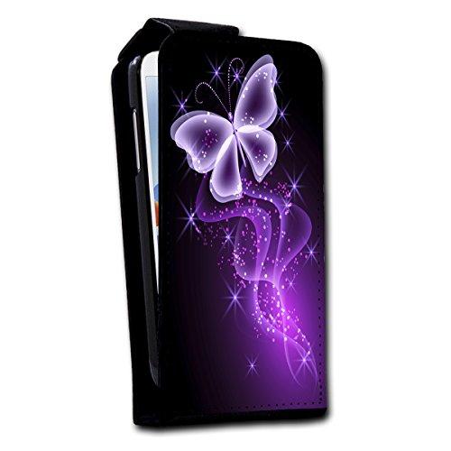Flip Style vertikal Handy Tasche Hülle Schutz Hülle Foto Schale Motiv Etui für Samsung Galaxy S3 Mini i8190 - V4 Design8