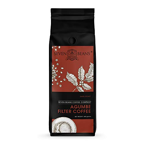 Seven Beans - Agumbe South Indian Filter Coffee Powder - Coffee: 70%, Chicory: 30%, 500 GMS (Dark Roast) (Pack of 1)
