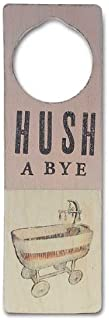 Tree By Kerri Lee Wooden Doorknob Sign Hushabye, Pink