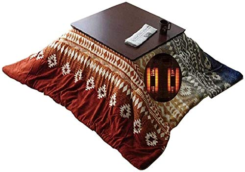 TANKKWEQ Kotatsu Table with Heater and Blanket Warm Tatami Low Table Set Kotatsu Winter Indoor Stove Table Living Room Tatami KOT Stove Table Best Gift for Elders Four-Piece Stove Table Set Winter Gif