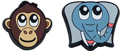 Gamma Sports Zoo Damps Vibration Dampeners (2-Pack), Unisex, AGZD10, Monkey/Elephant, S