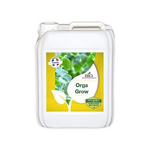 Bio Technology | Fertilizantes y Nutrientes Orgánicos y Naturales | Fertilizante de Crecimiento Orgánico | Fertilizador de Crecimiento Completo | Grandes Raíces | ORGA Grow - 5 L
