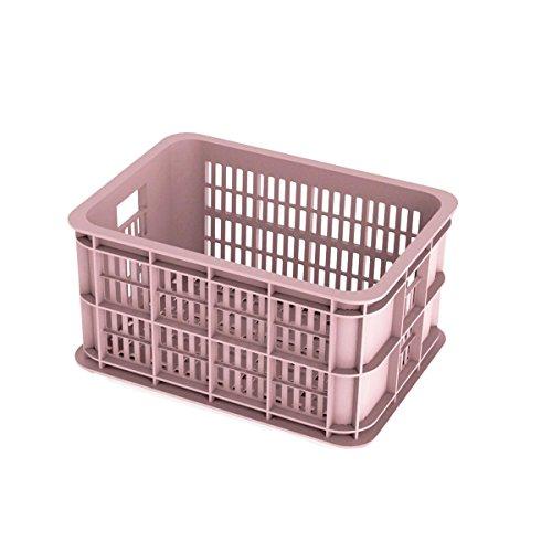 Basil Crate S Fahrradkasten, Pink, 40 x 30 x 21 cm