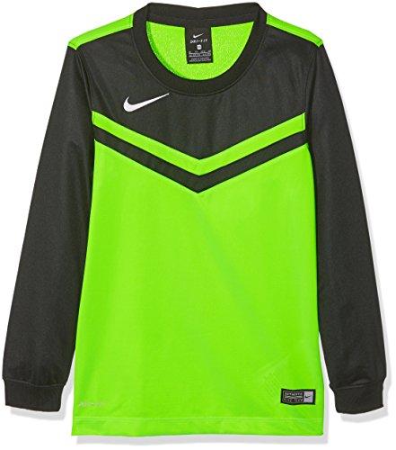 Nike Kinder Jersey Victory II LS Langarm Trikot, Electric Green/Black/White, M