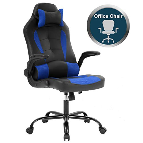 Back Racing Car Style Bucket Seat Office Desk Chair Gaming Chair blue chair gaming Whale