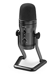 FIFINE Podcast Microphone for Computer USB Microphone with Four Pickup Patterns, Mute Button&Monitor Headphone Jack PC Mic for Zoom, Streaming, Gaming, YouTube, Voice-over, Recording, Vocal, ASMR-K690