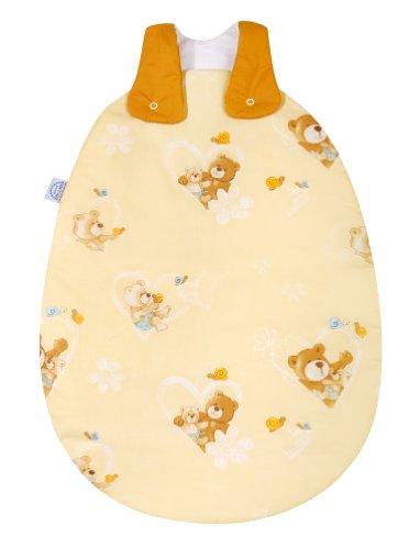 Julius Zöllner 9080010064 - Sac de couchage bébé - Motif ourson - Vanille - Taille: 50/56 cm