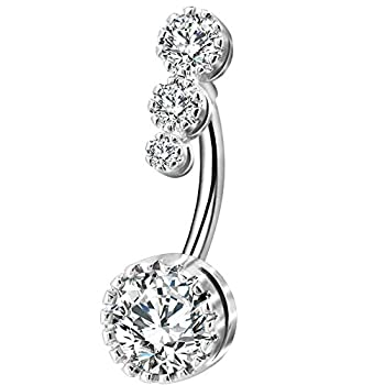 Best silver belly ring Reviews