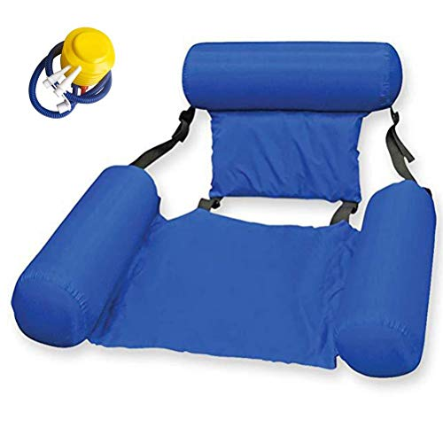 Yumoo Silla de agua inflable Flotador de piscina, cómoda cama inflable para verano Hamaca de agua portátil