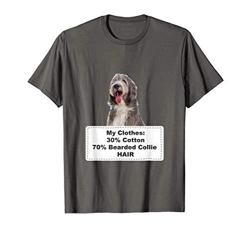 Funny Shedding Dog Bearded Collie 2 Camiseta