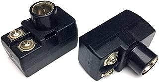 CESS F-Type Balun 300-75 ohm TV Connector Antenna Matching Transformer - F 300/75 ohm Plug (2 Pack)