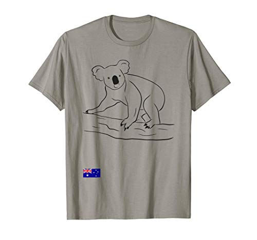 Australia Koala Flag Flagge Fahne Australien T-Shirt T-Shirt