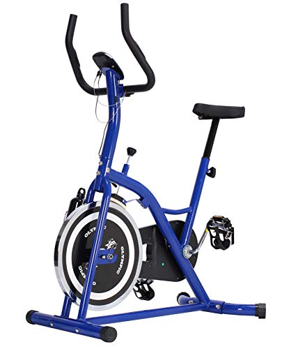 Fit4Home Unisex F4H Olimpico Intensive ES702Aerobica Indoor Cycling Spin Bike, Blu